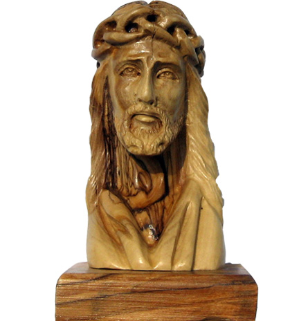 Buy Head Of Christ Olive Wood Religious Gifts Holyland Gifts