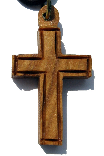 4218d2627aa Buy Roman Olive Wood Cross Necklace with Leather Cord | Holyland Gifts