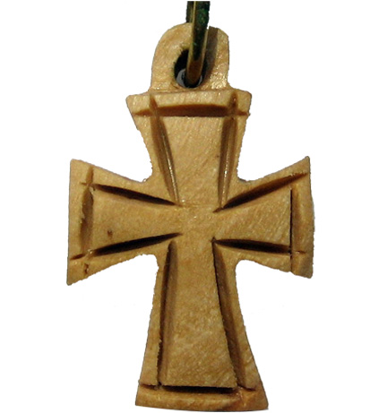 Buy Small Celtic Cross Olive Wood Necklace With Leather